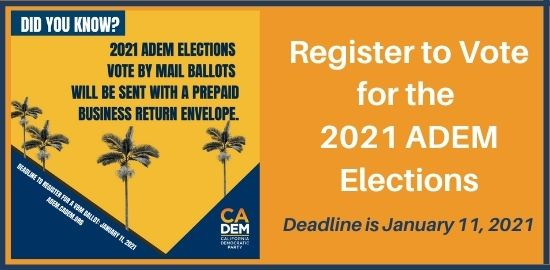Register To Vote for ADEM Election